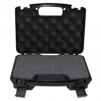 Кейс для пістолета пластиковий із застібками малий чорний MFH (27169A)
