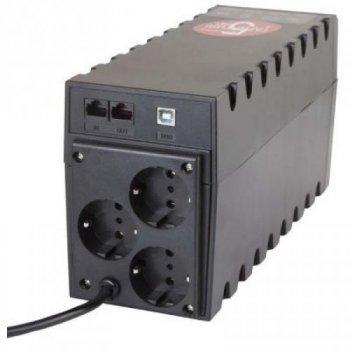 ДБЖ Powercom RPT-600AP, 3 x євро, USB (00210188)