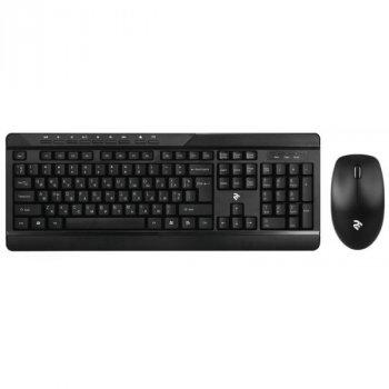 Комплект (клавіатура, миша) бездротовий 2E MK410 (2E-MK410MWB) Black