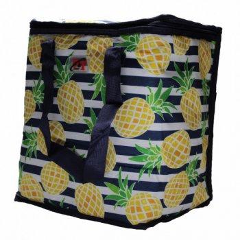 Термосумка, сумка-холодильник 32х20х35 см 22 л Sannen Cooler Bag З ананасами