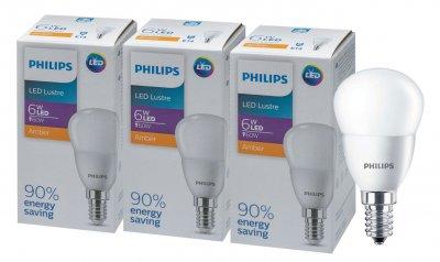 Светодиодная лампа Philips LEDLustre 6-60W E14 827 P45NDFR RCA (929002273937R) 3 шт.