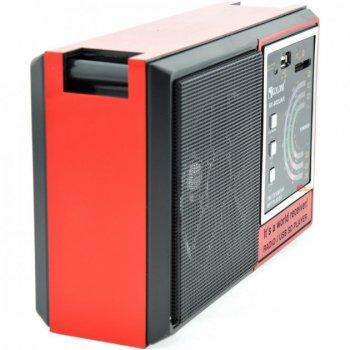 Портативный FM AM радиоприемник GOLON RX-002 с Mp3 USB SD аккумуляторный красный (ER880)