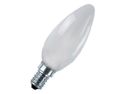 Лампа розжарювання свічка 60С1/F/E14 230V матова GE Угорщина