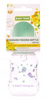 Бутылочка для кормления с талией и силиконовой соской Baby Team 125 мл Мятная (1111_мятный)