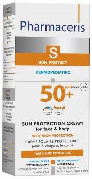 Солнцезащитный крем для лица и тела детей и новорожденных Pharmaceris S Sun Protection SPF50+ 125 мл (5900717149618)