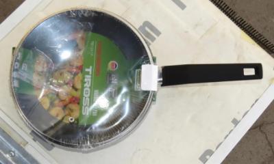 Сковорода с крышкой и мраморным покрытием Tiross TS-1255P 26 см Black