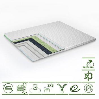 Тонкий матрас-топпер Green Streem Tea 150х200 см (02022020-42-16) (2020421502004)