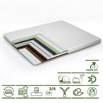 Тонкий матрас-топпер Green Streem Tea Cocos 160х200 см (02022020-43-17) (2020431602008)