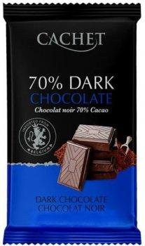 Шоколад чорний Cachet Extra Dark Chocolate 70% 300 г