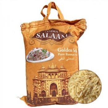 Рис Басмати Индия Basmati Salaam Golden Sella India Двойная пропарка длиннозерный 5 кг