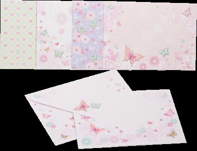 Заготівля для листівок ZiBi з кольоровими конвертами Inspiration 105 х 148 см (ZB.18222-AD)