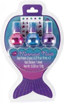 Набор голографических лаков для ногтей Make It Real Русалочка 3 шт х 8 мл (MR43276) (638241432764)