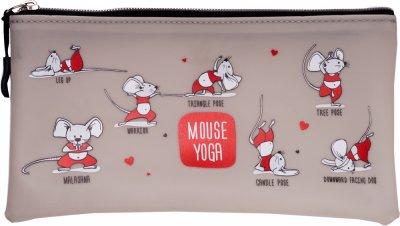 Пенал ZiBi Йога для мышек плоский Серый (ZB.703216) (4823078971838)