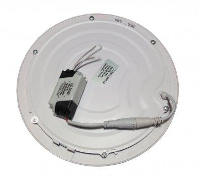 Панель LED врезная LURD-12C 6000K 12W круг (d:160мм) алюминий