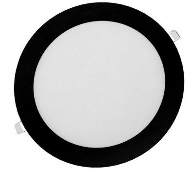Панель LED врізна BLACK LURD-12N 4000K 12W коло (d:160мм) алюміній