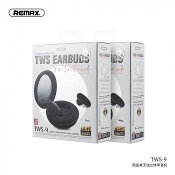 Беспроводные Bluetooth наушники REMAX Vizi Series TWS-9 |IPX4,50/400mAh BT5.0, 4hours| Black