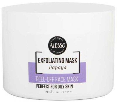 Альгинатная маска для лица Alesso с Папайей глубоко очищающая и отшелушивающая 200 г (3273629232436)