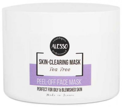 Альгинатная маска для лица Alesso с маслом Чайного дерева противовоспалительная 200 г (3273629234430)