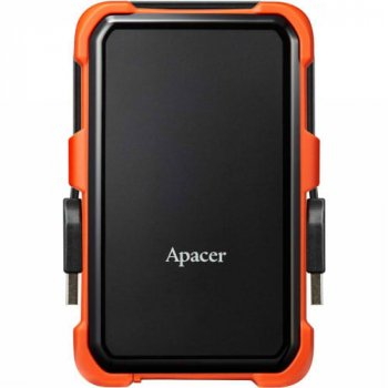 """Жорстку зовнішній диск USB Apacer 3.1 Gen1 AC630 2TB 2,5"""" Чорно-помаранчевий (AP2TBAC630T-1)"""