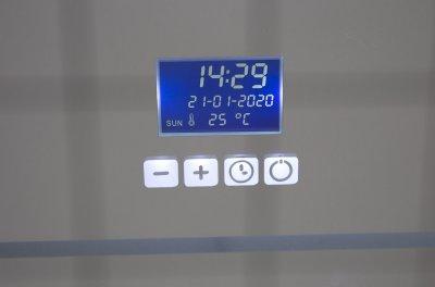 Зеркало AQUA RODOS Омега Time 80 см с часами и LED-подсветкой