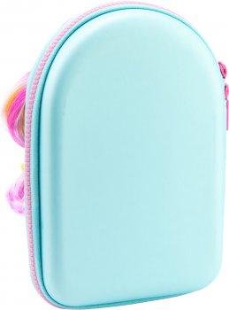 Объемный 4D пенал с прической Cool For School 1 отделение Голубой (QT-5731-Blue)