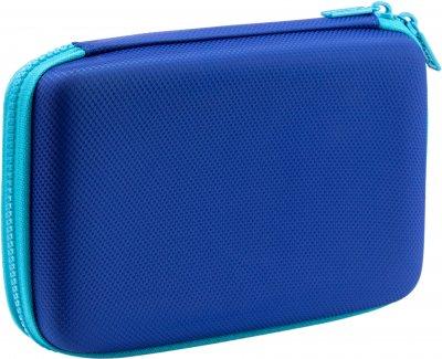 Пенал с тиснением Cool For School 1 отделение Голубой (QT-5718-Blue)