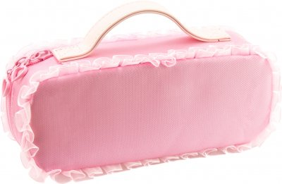 Пенал-сумка пушистая с аппликацией Cool For School 1 отделение Розовая (7471-pink)