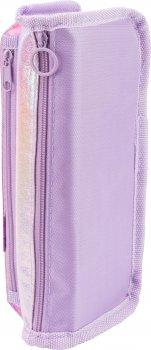 Пенал твердый с аппликацией Cool For School 2 отделения Фиолетовый (7480-purple)