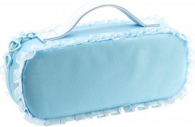 Пенал-сумка пушистая с аппликацией Cool For School 1 отделение Голубая (7471-blue)