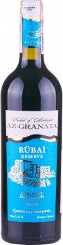 Вино Rubai Cabernet Sauvignon 2014 красное сухое 0.75 л 13% (4760081505882)