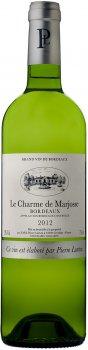 Вино Le Charme De Marjosse Blanc 2012 Bordeaux белое сухое 0.75 л 13% (3450301121343)