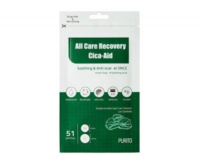 Заспокійливі патчі проти запалень PURITO All Care Recovery Cica-Aid 51шт