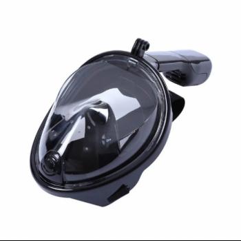 Подводная Маска для снорклинга Seagard Easybreath полнолицевая с креплением для камеры L/XL 180 градусов Черная (2S-005062)