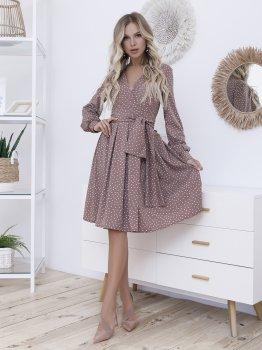 Плаття ISSA PLUS 12099 Світло-коричневе