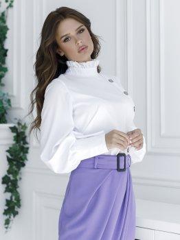 Блузка ISSA PLUS SA-10 Белая