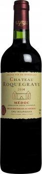 Вино Chateau Roquegrave 2014 Medoc червоне сухе 0.75 л 12.5% (3450301141464)