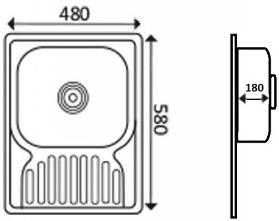 Кухонная мойка LIDZ 5848 Satin 0.8 мм (LIDZ5848SAT)