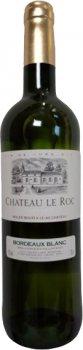 Вино Chateau Le Roc 2018 Bordeaux белое сухое 0.75 л 13% (3450301165743)