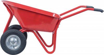 Тачка строительная 2-колесная на подшипниках Kanat Plus KPD-183 100 л (180 кг) Red (KPD-183)