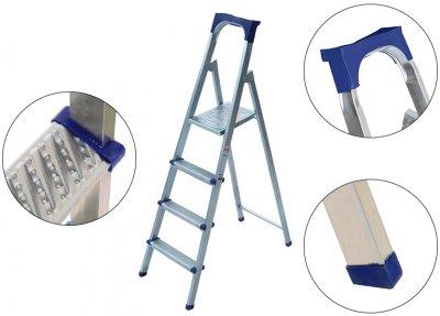 Лестница из 4 ступеней + лоток Kanat Elips EM-603 Blue/Silver