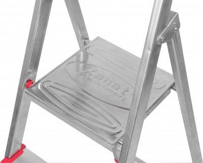 Лестница из 5 ступеней + лоток Kanat Aluminyum Eco KAM-204 Red/Silver