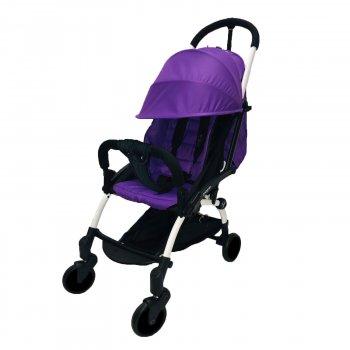 Коляска Yoya 175А+ Фиолетовая на белой раме