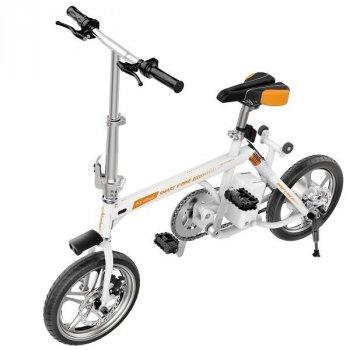 Електровелосипед міської складаний Airwheel R3+ 214.6 WH Bluetooth 3 режими їзди біло-помаранчевий AFK 6925611240147