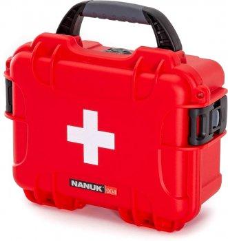 Водонепроникний пластиковий кейс Nanuk 904 First Aid Logo RED (904-FSA9)