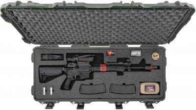 Захисний кейс для зброї Nanuk 985 with Assault Rifle Foam Olive (985-AR06)