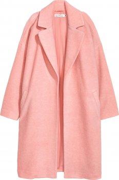 Пальто H&M 6160707 Світло-рожеве
