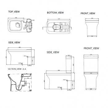 Унитаз-компакт DEVIT City безободковый с сиденьем Soft Close Quick-Fix дюропласт 3010160