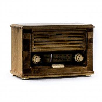 Ретро радіо (програвач) Daklin MC58B «Малюк» FM-радіо, бамбуковий корпус