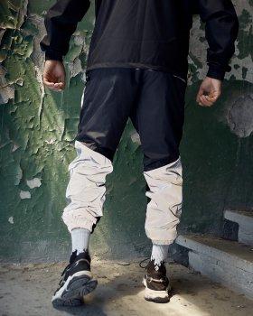 Спортивные штаны Пушка Огонь Dex черные с рефлективом