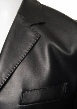 Шкіряна куртка Kapraun чорна 252109, 140200
